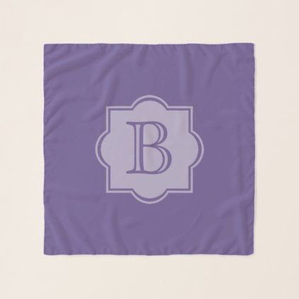 Trendy Ultra Violet Simple Logo Purple Monogram Scarf - create your own gifts personalize cyo custom