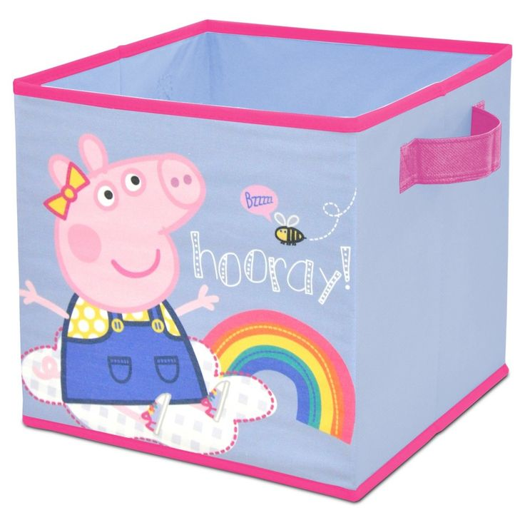 "Peppa Pig Pink Storage Bin (12""x12"")"