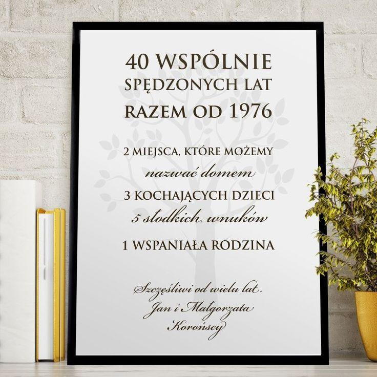 Plakat personalizowany 31x41 cm WSPÓLNE LATA