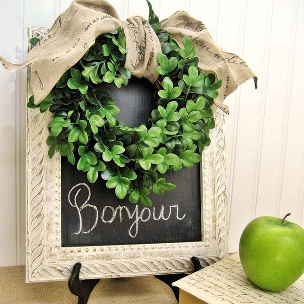 Small boxwood wreath - French Country