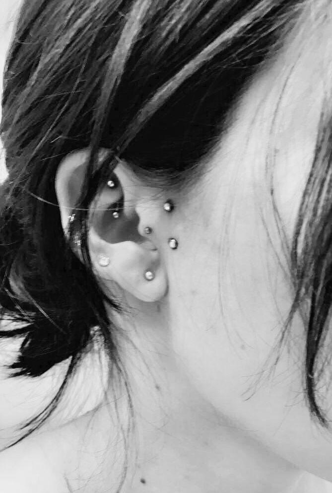 Fresh targus surface dermals #earrings #implants #microdermal #piercings #ear #tragus