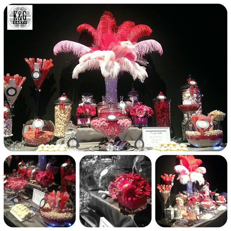 Gala Dinner Candy Table. K & G Cart Co.