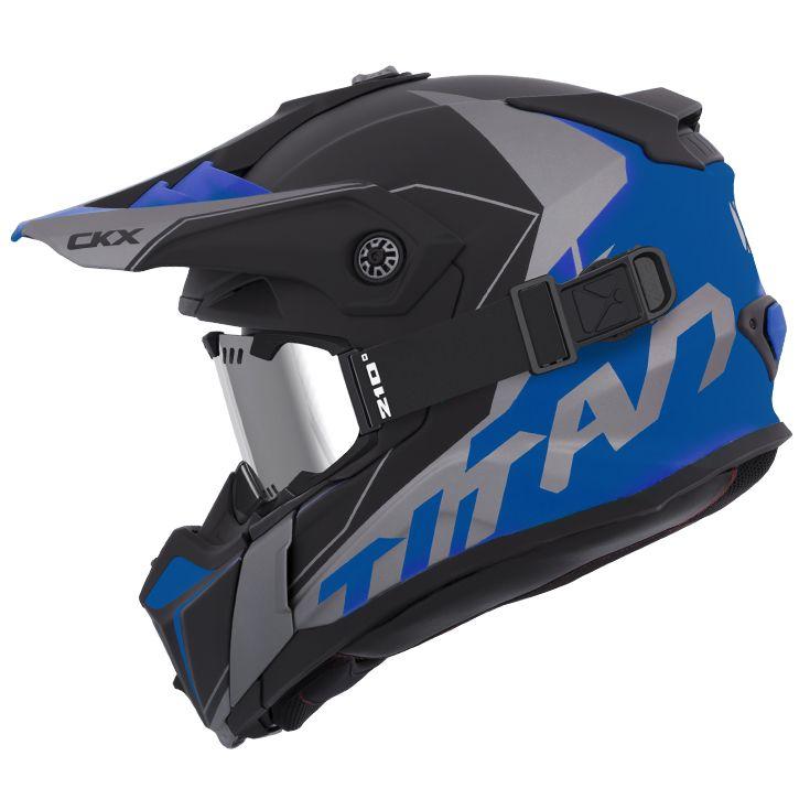 CKX - Off-road winter helmets - TITAN Cliff Blue Mat - kimpexnews.com