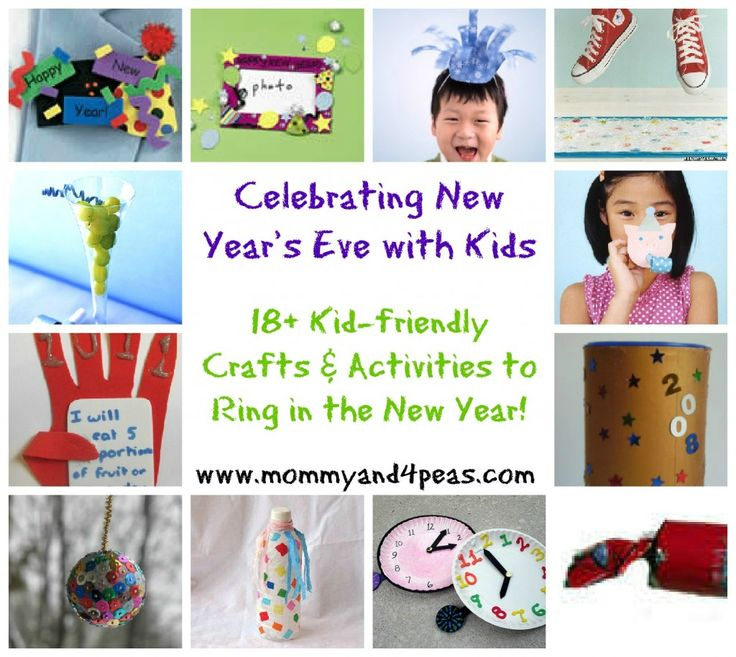18 crafts and activity ideas for New Year's Eve with Kids, from MommyAnd4Peas.com