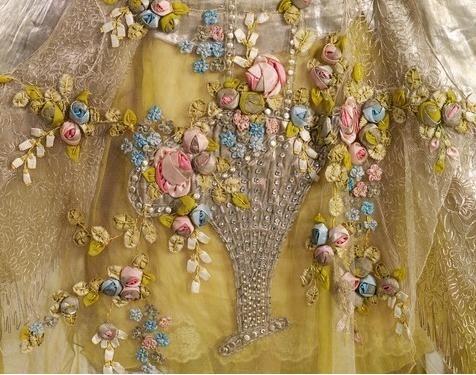 Evening Gown Boue Soeurs Paris c. 1923-1925 silk rose
