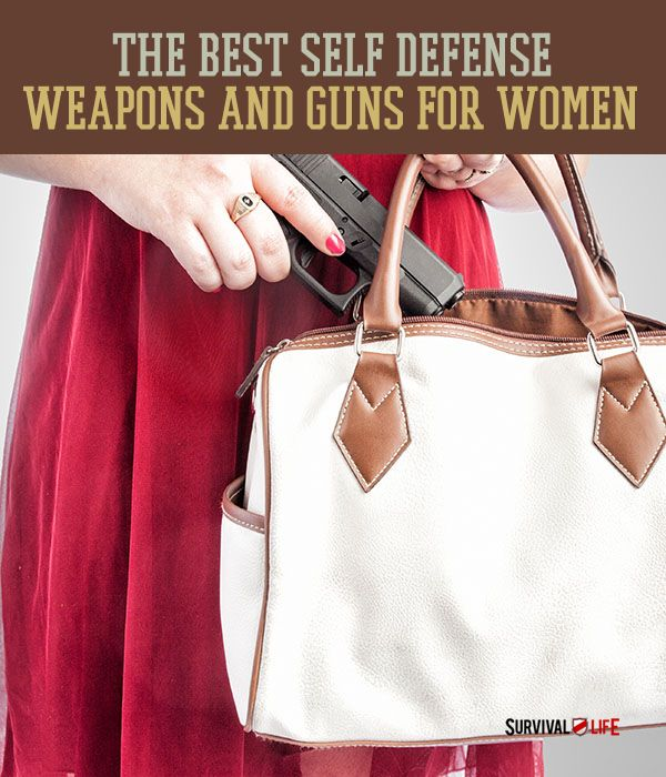 The Best Self Defense Weapons and Guns for Women | They may be light and easily concealable, but you do not want to be on the other end of these self defense weapons! www.survivallife.com #survivallife