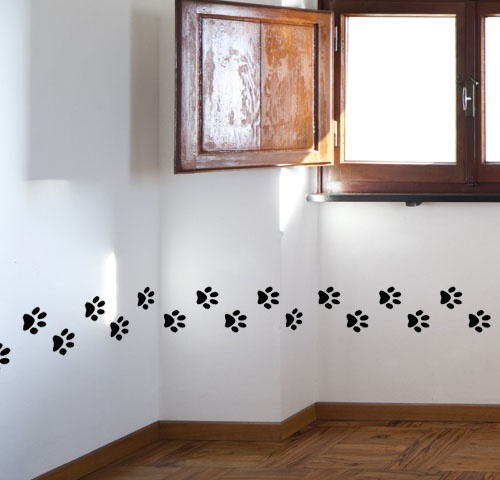 Paw Print Wall Decals would put this in a puppy/dog themed nursery for a baby boy