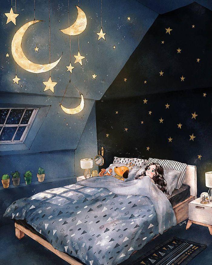Спокойной ночи картинки креативные оригинальные любимому