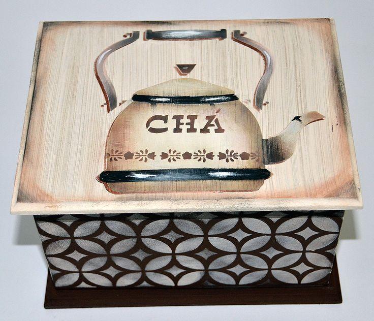 Porta Chá | Artesanatos Michiko | Elo7