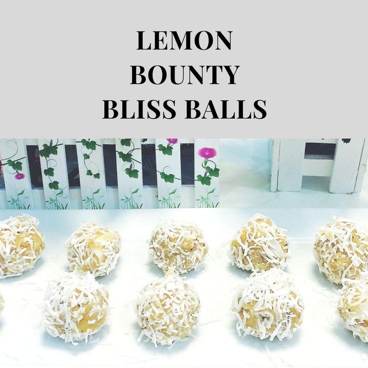 Healthy Snack -  Lemon Bounty Bliss Balls