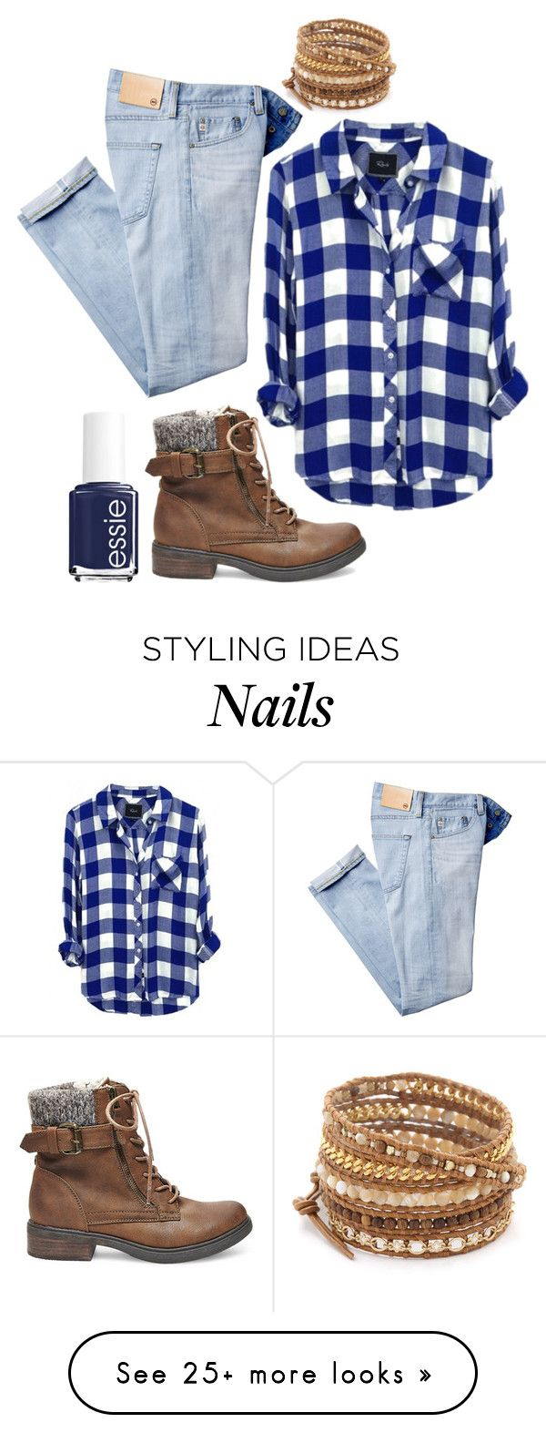 """Tongue Tied"" by flyintotheindigosky on Polyvore featuring Steve Madden, AG Adriano Goldschmied, Essie and Chan Luu"