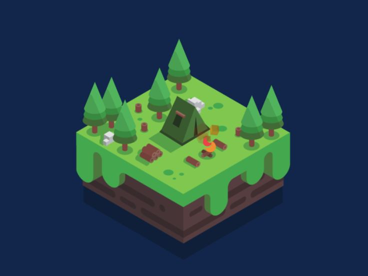 Isometric Campsite by Jack Kane #Design Popular #Dribbble #shots