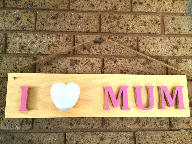 Personalised Wood Sign With LED Remote by Green Heart Projects #mothersday