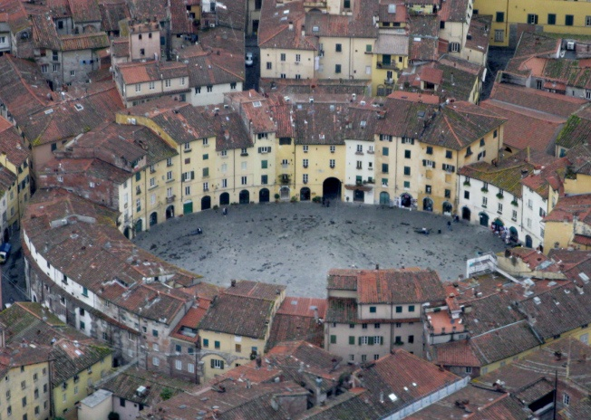 Piazza Anfiteatro from the sky