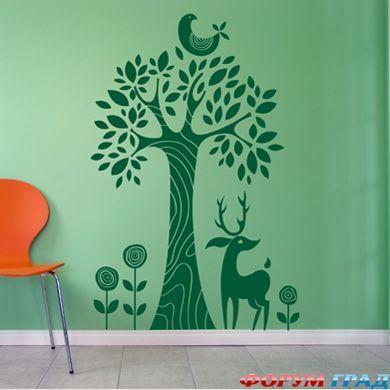 Декоративные виниловые наклейки на стены: как сделать так, чтобы дом засиял новыми красками, не меняя интерьер - Быстро и со вкусом - несколько ярких пятен на стене оживят скучную комнату - Форум-Град