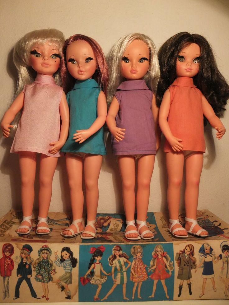 furga dolls sheila | Simona, Sheila, Sylvie and Susanna