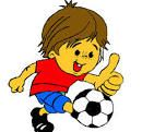 A child playing footbal