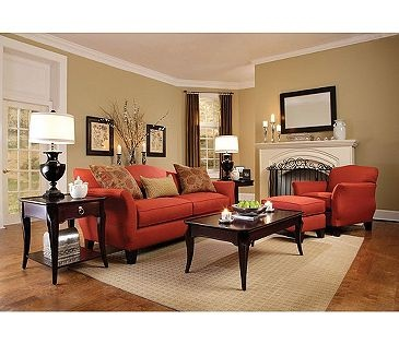Broyhill Ferron Court Sofa And Chair With Ottoman Set