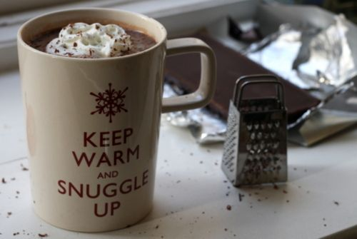 Love the cup and what in it.. hot chocolate :)