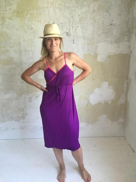 NANA summer dress - purple/pink