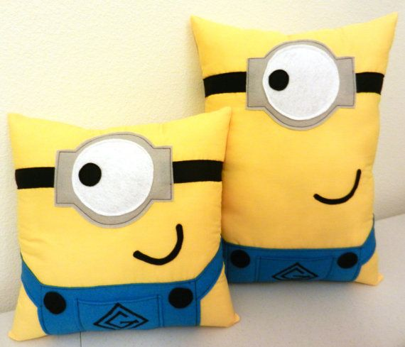 Minion Pillows Custom ordering available by MaggieElizDesigns, $35.00
