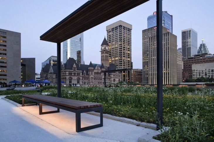 Nathan Phillips Square Podium Roof Garden by PLANT