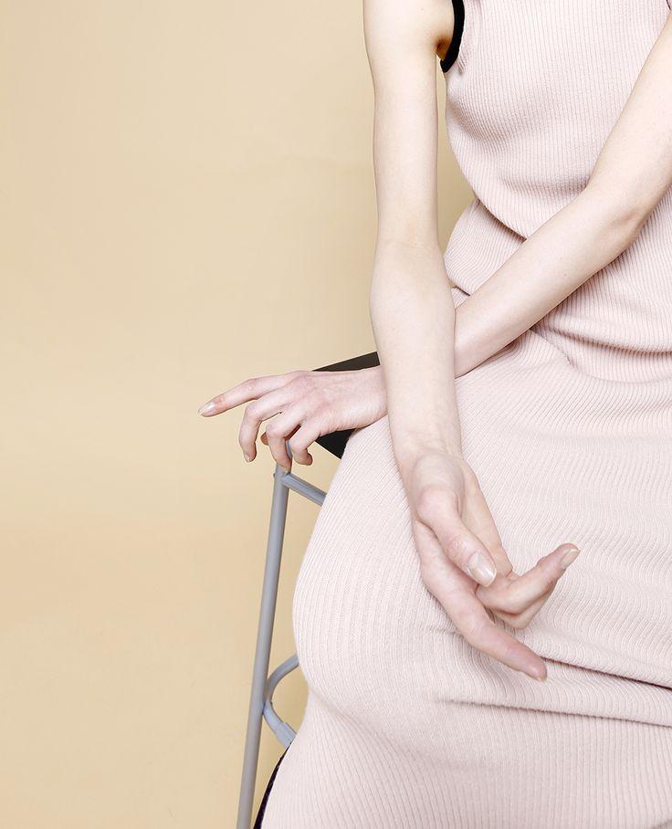 photographed by Judit Dombovari  pastel colours minimal fashion photography