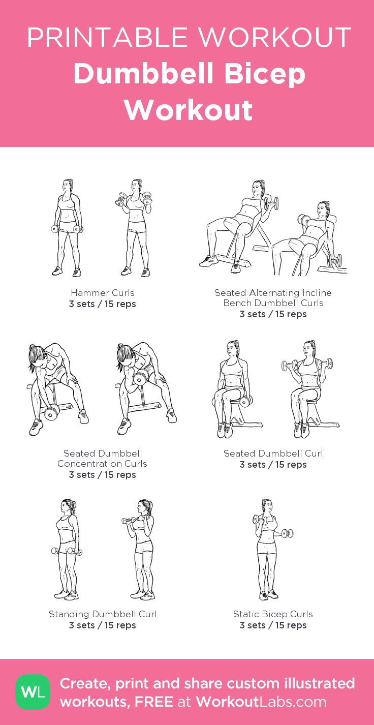 The secret to building sexier biceps for women and men Dumbbell Bicep Workout: my visual workout created at WorkoutLabs.com • Click through to customize and download as a FREE PDF! #customworkout