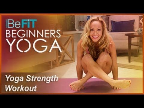 ▶ BeFiT Beginners Yoga: Beginners Yoga for Strength Workout | Level 2- Kino MacGregor - YouTube