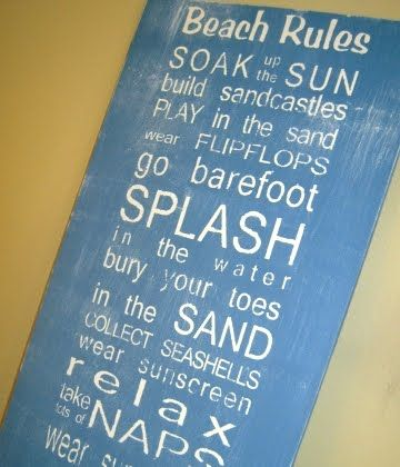Beach Subway Art -Free Printables & Tutorials for DIY