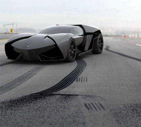 Lamborghini Ankonian Concept by Slavche Tanevsky...Makes Batman look like a little girl