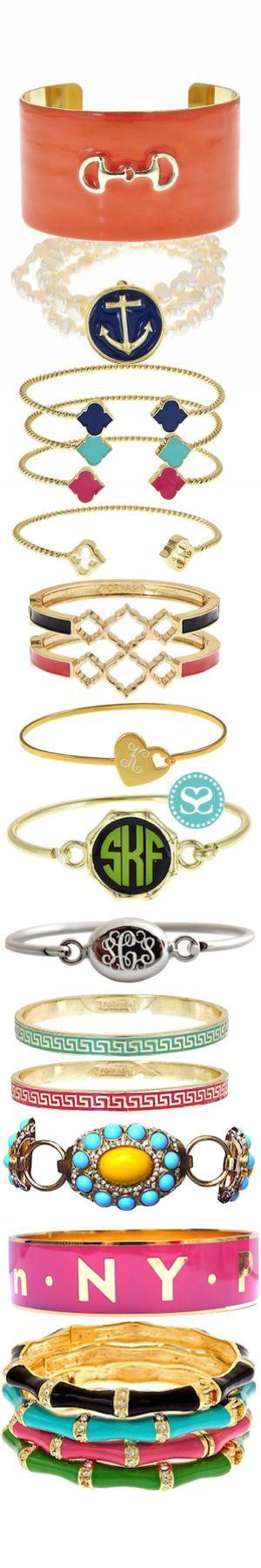 Bracelets, bangles and a #monogram, oh my!  #armcandy