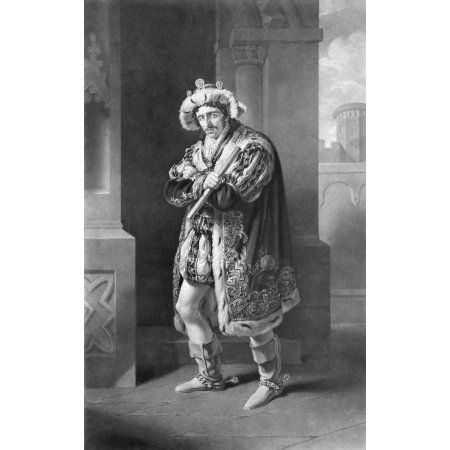 Edmund Kean 1787 To 1833 English Actor In Richard The Third Act Iv Scene 4 By William Shakespeare 1564 To 1616 Engraved By CTurnerby After Painting By JJ Halls Canvas Art - Ken Welsh Design Pics (11