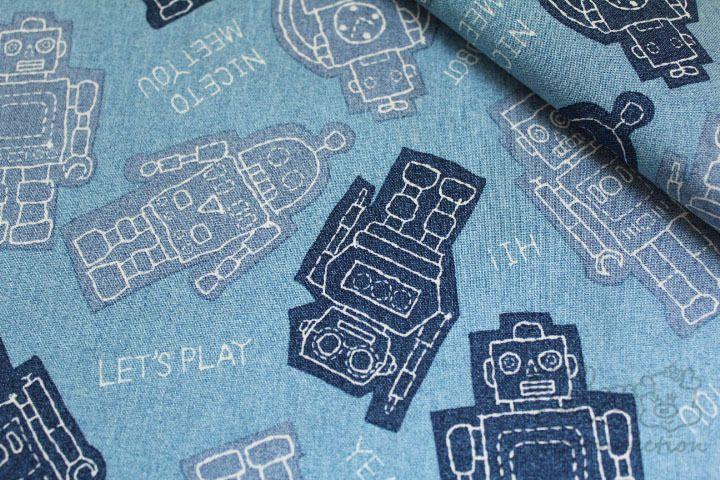 Big Robot Spielzeug-japanischen Baumwollgewebe von Fat Connection auf DaWanda.com