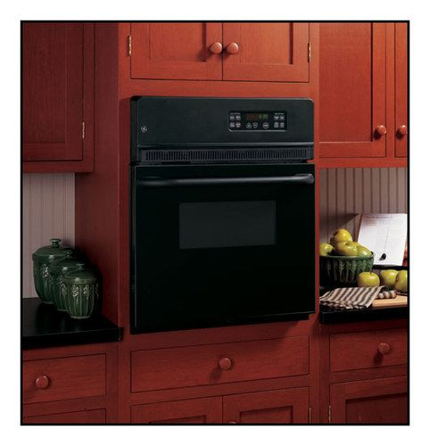 """GE - 24"""" Built-in Single Electric Wall Oven - Black"""