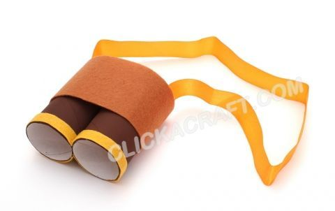 Cardboard Toilet Paper Roll Binocular - Handmade Craft Ideas for | http://diycraftstutorials242.blogspot.com