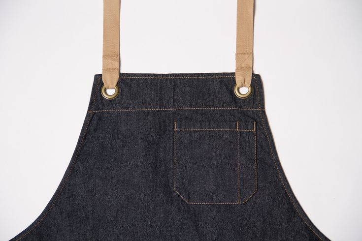 Keep trendy and practical in the kitchen with a dark denim apron