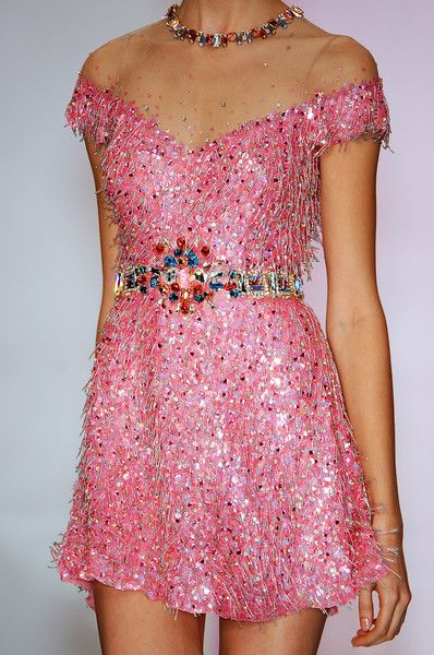 Jenny Packham? So pink & so sparkly!