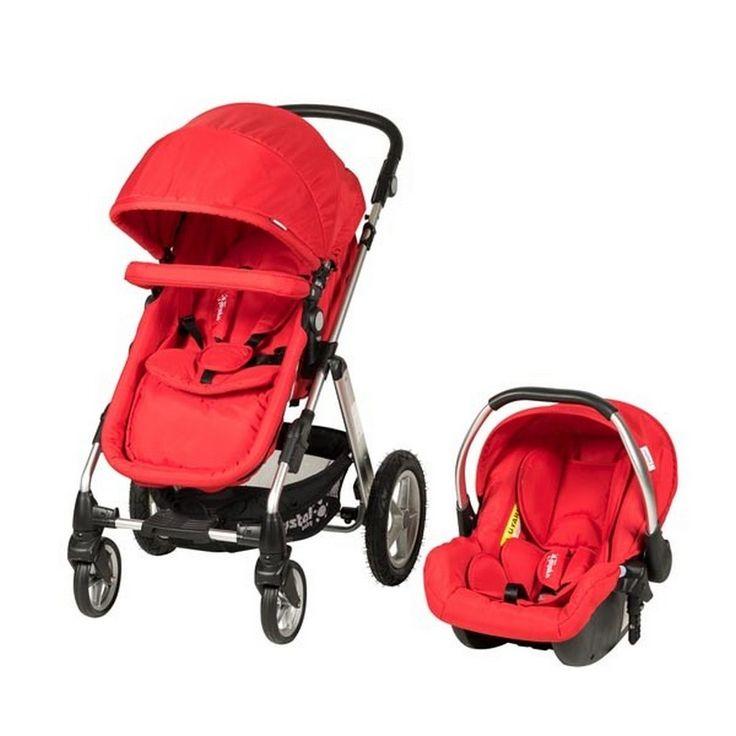 Bebolly Kids ~ Crystal Baby 275 Toscana  Travel  Sistem Bebek Arabası Kırmızı
