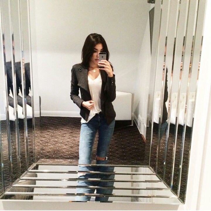 Like the simple black & white with jeans