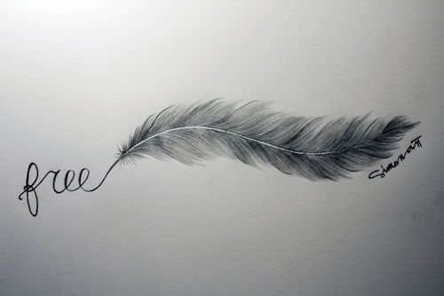 Free, Tattoo, Feather.
