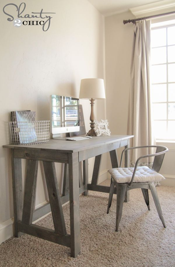 "Varathane  ""Weathered Gray"" DIY TRUSS DESK 