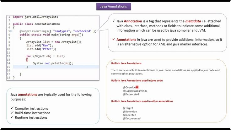 Java Tutorial: Annotations in java | Java annotations [Annotations intro...