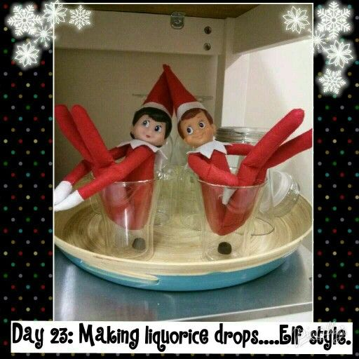 Day 23: Making liquorice drops.... Elf style.