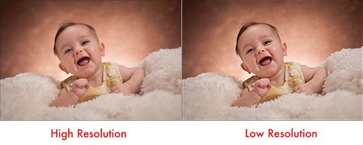Confused by what is a low-resolution picture versus a high resolution picture? We're here to help.