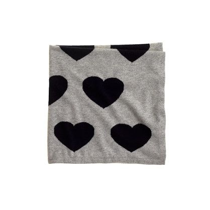 J.Crew - Collection cashmere baby blanket in heart stack