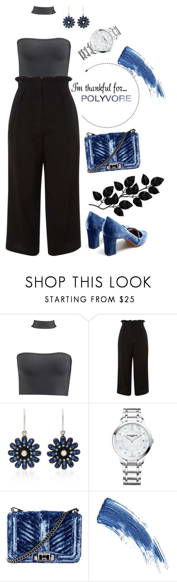 """""""I'm Thankful For..."""" by coffee88 ❤ liked on Polyvore featuring Topshop, Nam Cho, Baume & Mercier, Rebecca Minkoff, Eyeko and Tabitha Simmons"""