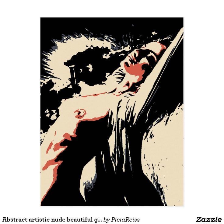 Abstract artistic nude beautiful girl postcard