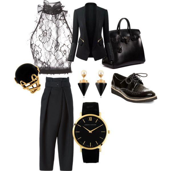 A fashion look from November 2015 by lavishsafiya featuring Oscar de la Renta, STELLA McCARTNEY, Steven by Steve Madden, Hermès, Vita Fede and Larsson & Jennings