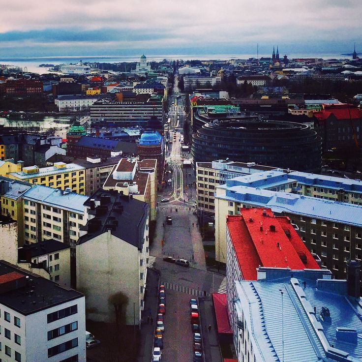 Helsinki from the tower of Kallio Church. Finland